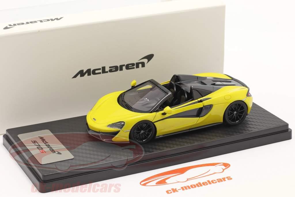 McLaren 570S Spider Byggeår 2017 sicilian gul 1:43 TrueScale