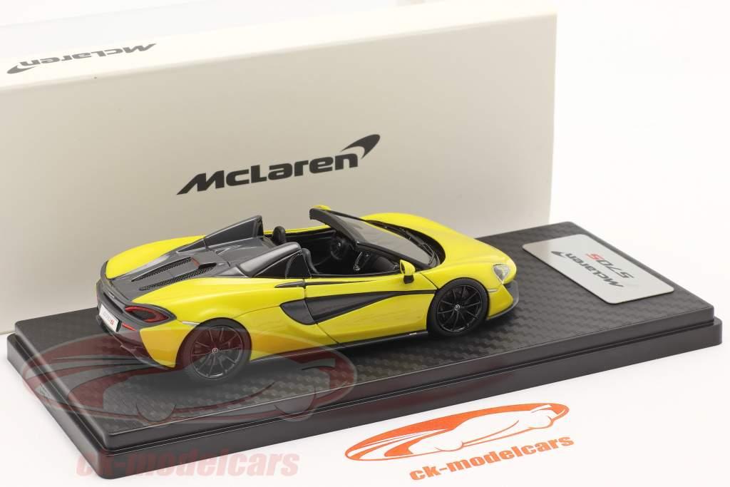 McLaren 570S Spider Ano de construção 2017 sicilian amarelo 1:43 TrueScale