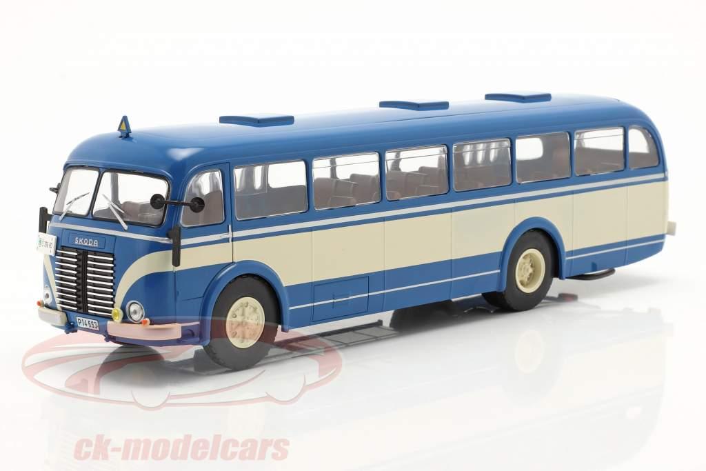 Skoda 706 RO Byggeår 1947 blå / beige 1:43 Ixo