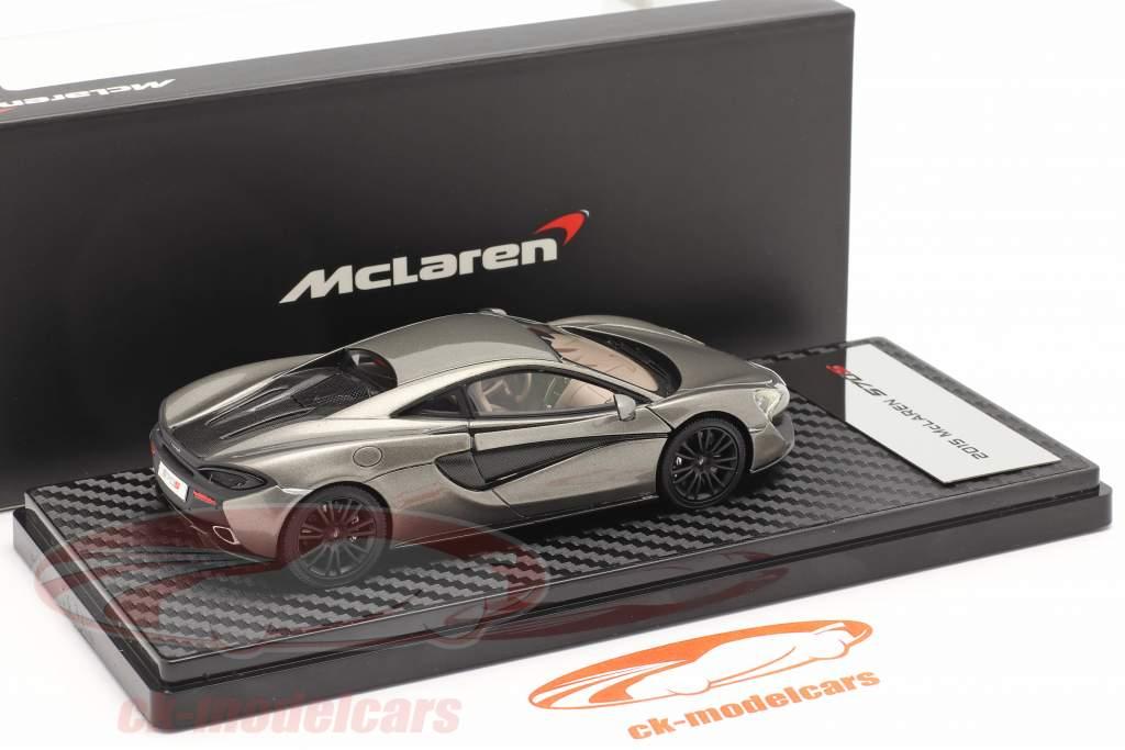 McLaren 570S Coupe Année de construction 2015 argent métallique 1:43 TrueScale