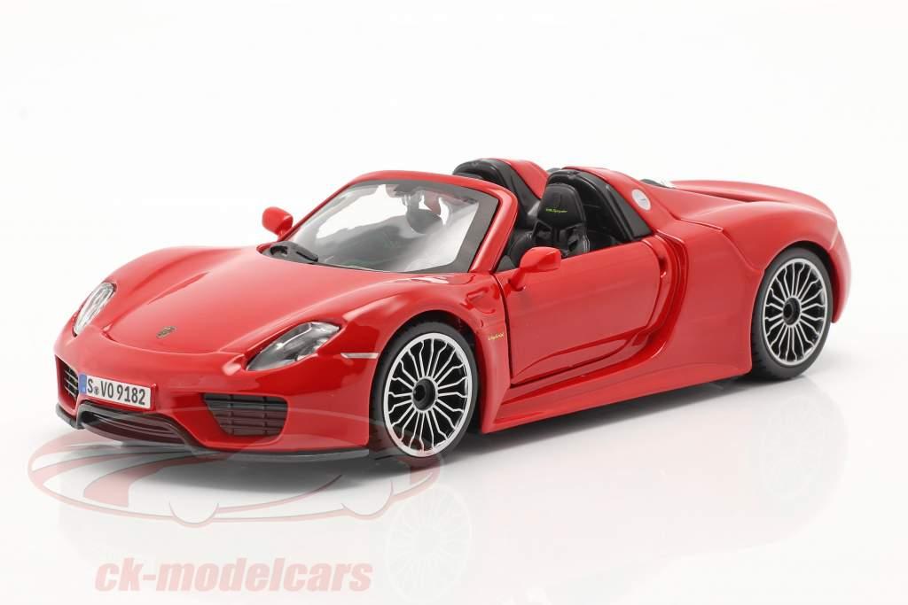 Porsche 918 Spyder Baujahr 2015 rot 1:24 Bburago