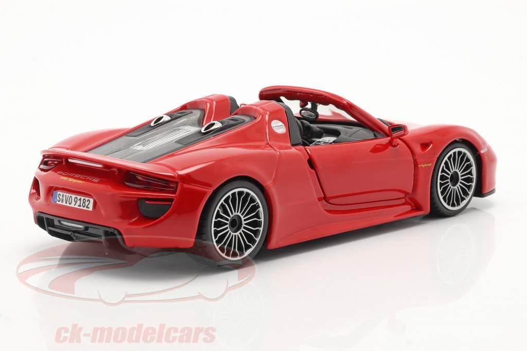 Porsche 918 Spyder 建設年 2015 赤 1:24 Bburago