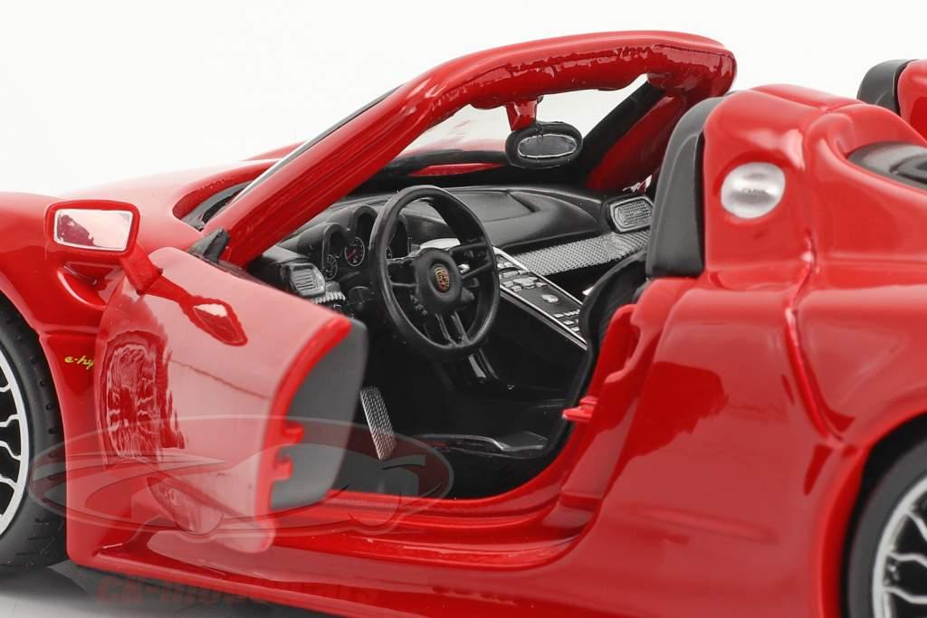 Porsche 918 Spyder Bouwjaar 2015 rood 1:24 Bburago