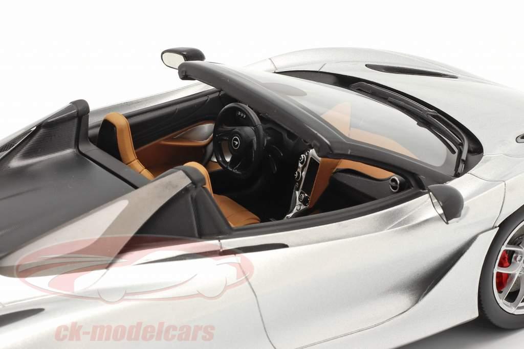McLaren 720S Spider Année de construction 2019 supernova argent Avec Vitrine 1:18 Spark