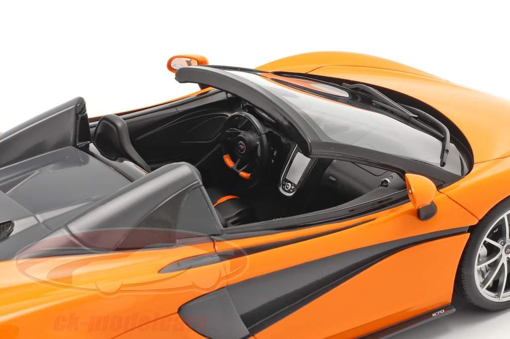 McLaren 570S Spider Byggeår 2017 ventura orange 1:18 Spark