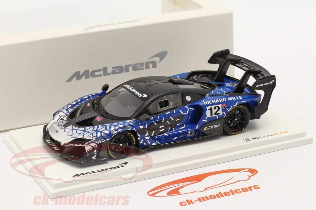 McLaren Senna GTR 2019 #12 blau / chrome / schwarz 1:43 Spark