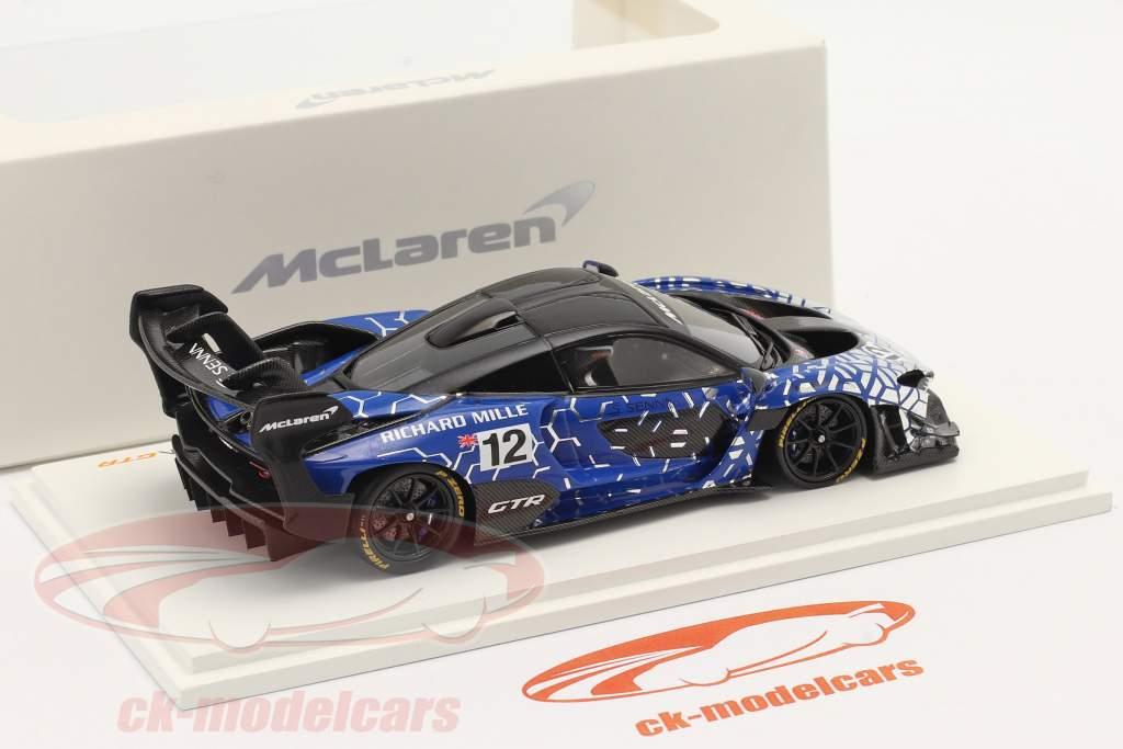 McLaren Senna GTR 2019 #12 蓝色的 / 铬合金 / 黑色的 1:43 Spark