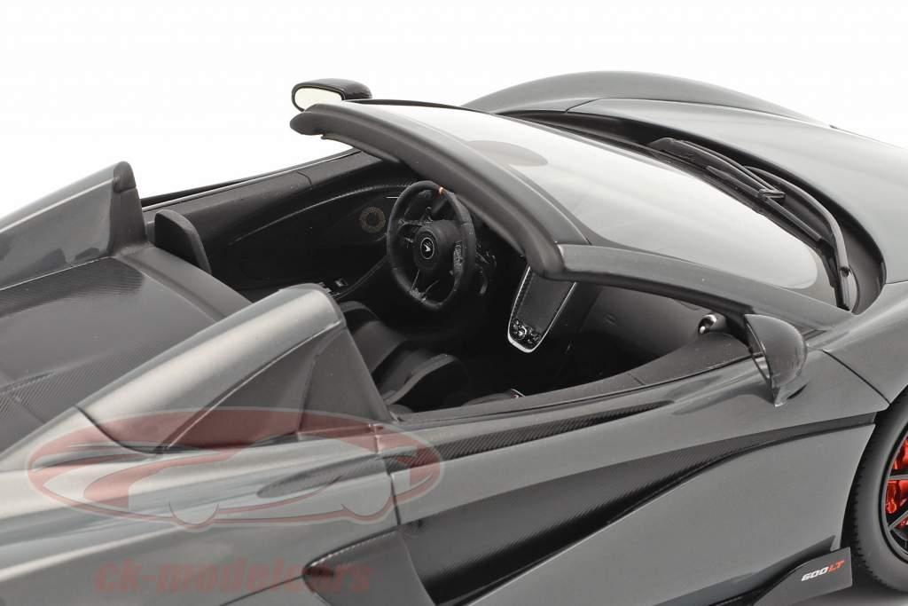 McLaren 600LT Spider Año de construcción 2019 chicane gris Con Escaparate 1:18 Spark