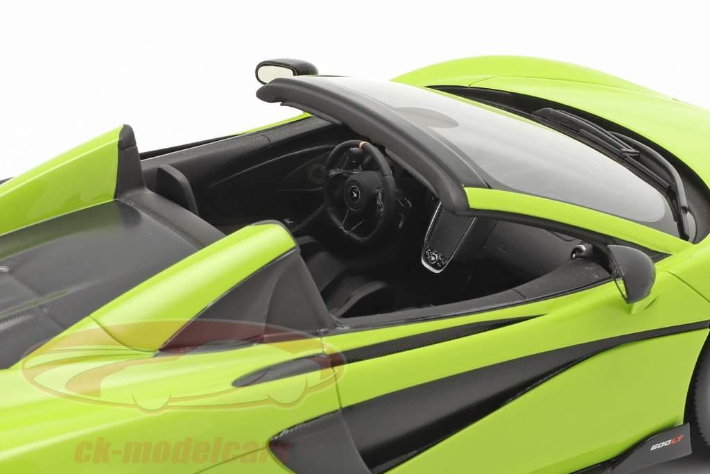 McLaren 600LT Spider Anno di costruzione 2019 lime verde Con vetrina 1:18 Spark