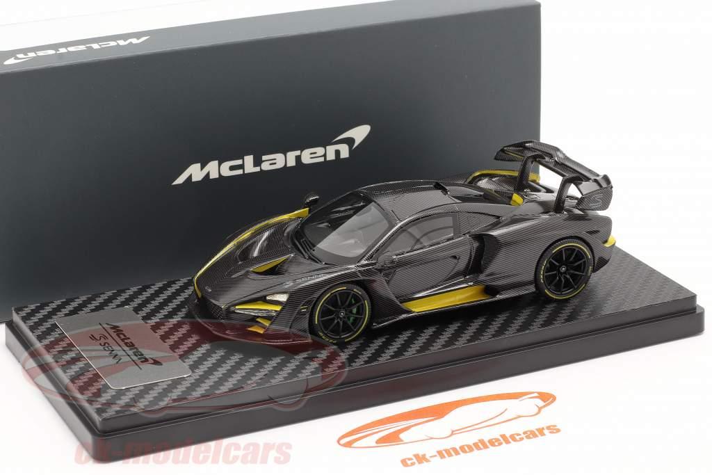 McLaren Senna MSO (P15) year 2018 carbon / yellow 1:43 TrueScale
