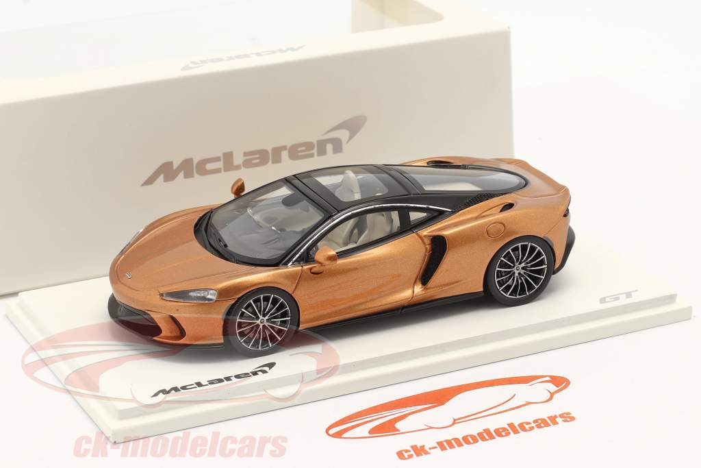 McLaren GT Año de construcción 2019 cobre metálico 1:43 Spark