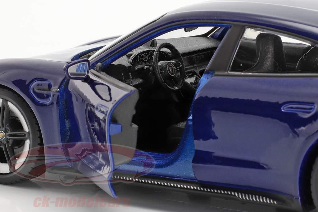Porsche Taycan Turbo S azul escuro 1:24 Bburago