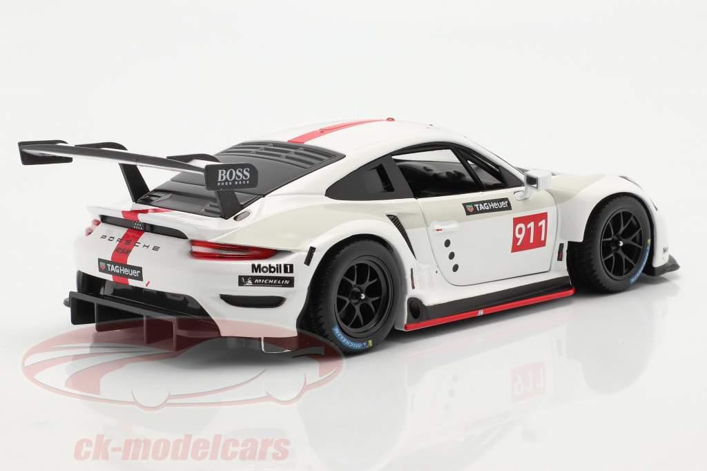 Porsche 911 RSR GT #911 blanco / rojo 1:24 Bburago