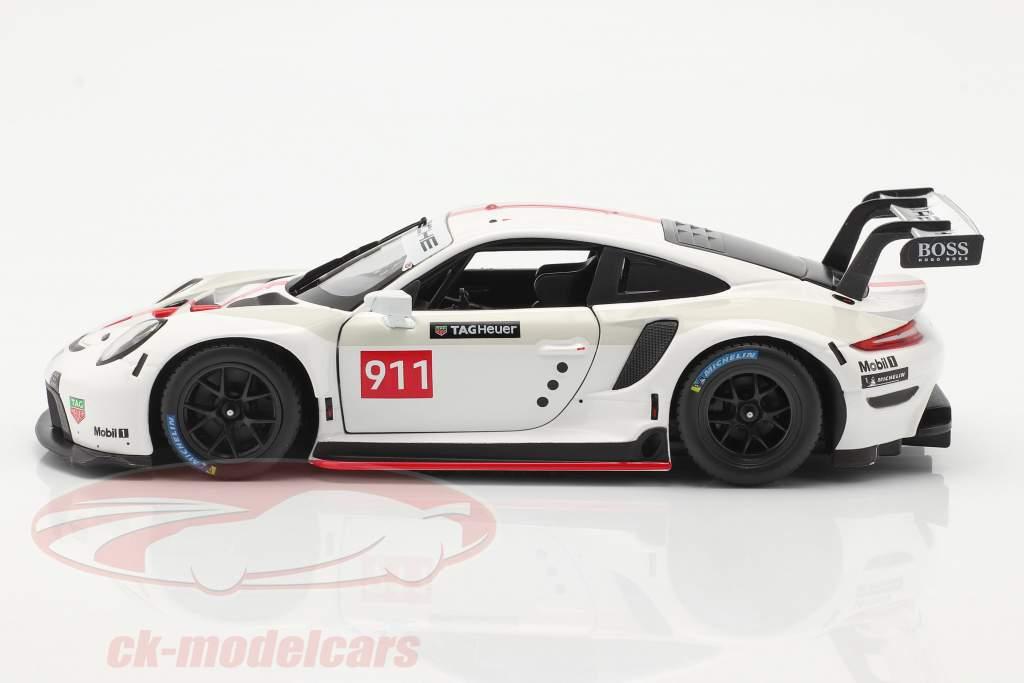 Porsche 911 RSR GT #911 white / red 1:24 Bburago