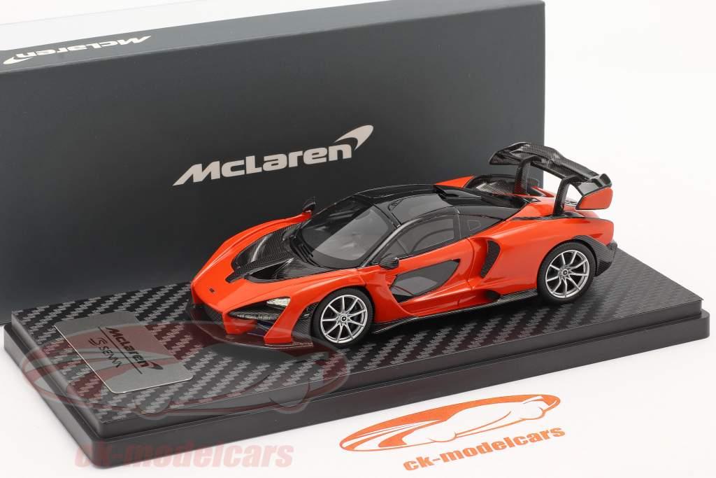 McLaren Senna Año de construcción 2018 mira naranja 1:43 TrueScale