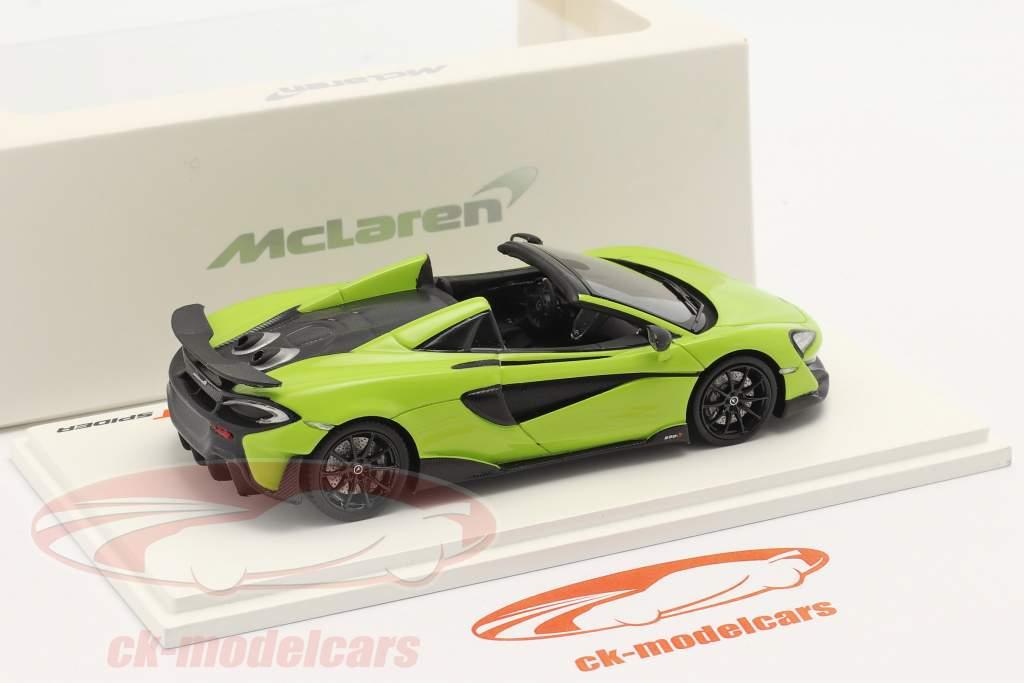 McLaren 600LT Spider year 2019 lime green 1:43 TrueScale