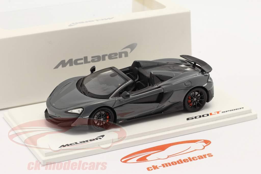 McLaren 600LT Spider Bouwjaar 2019 chicane Grijs 1:43 TrueScale
