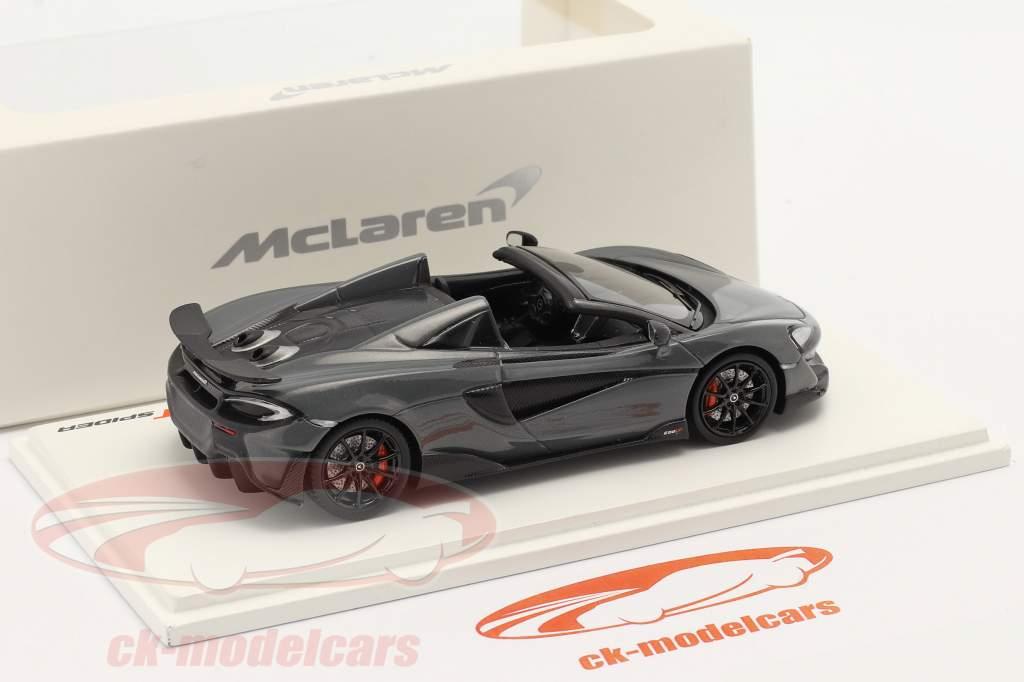 McLaren 600LT Spider Año de construcción 2019 chicane gris 1:43 TrueScale