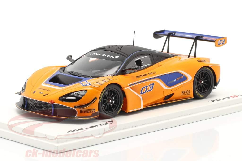 McLaren 720S GT3 2019 #03 orange / blå 1:43 Gnist