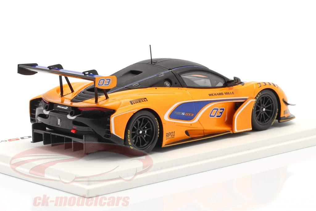 McLaren 720S GT3 2019 #03 oranje / blauw 1:43 Vonk