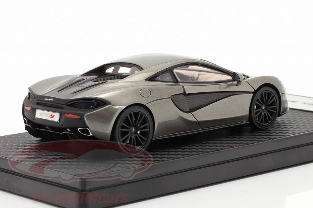 McLaren 570S Coupe Byggeår 2015 sølv metallisk 1:43 TrueScale
