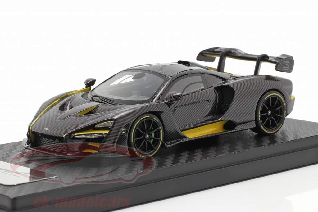 McLaren Senna MSO (P15) Ano de construção 2018 carbono / amarelo 1:43 TrueScale