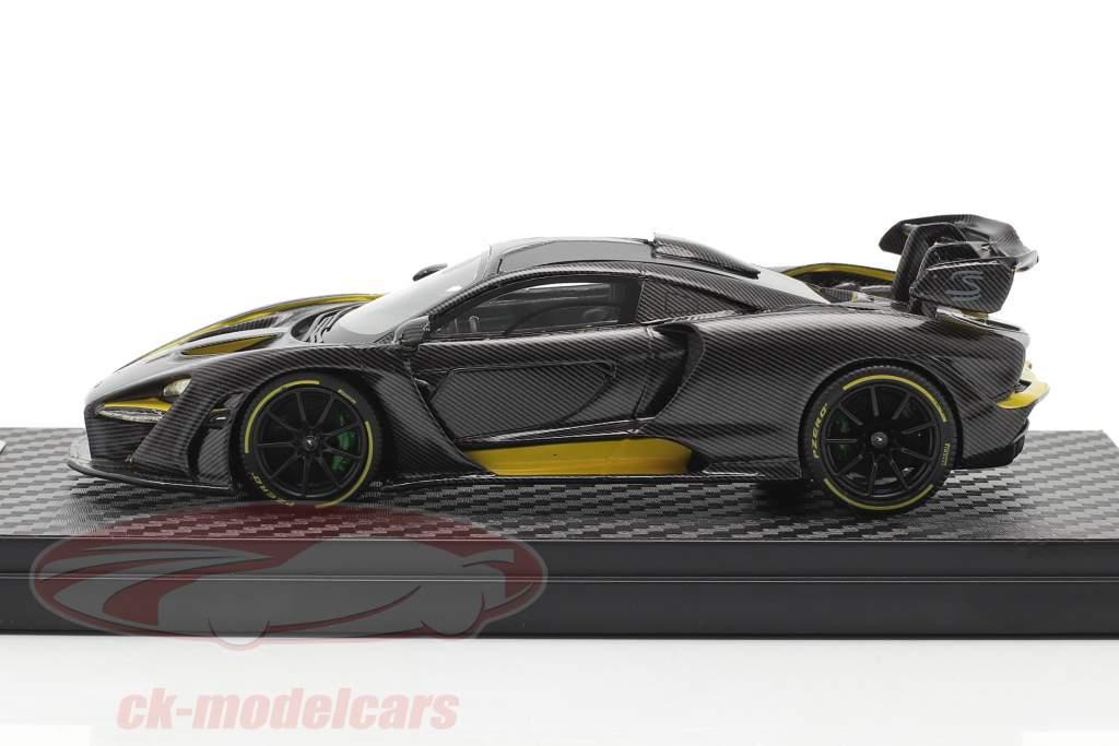 McLaren Senna MSO (P15) Année de construction 2018 carbone / jaune 1:43 TrueScale