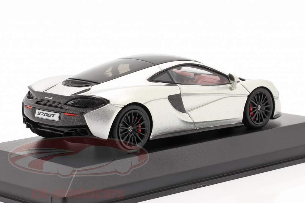 McLaren 570GT Ano de construção 2017 prata metálico 1:43 Minichamps