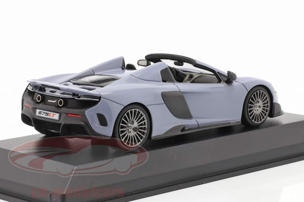 McLaren 675LT Spider Bouwjaar 2016 keramiek grijs 1:43 Minichamps