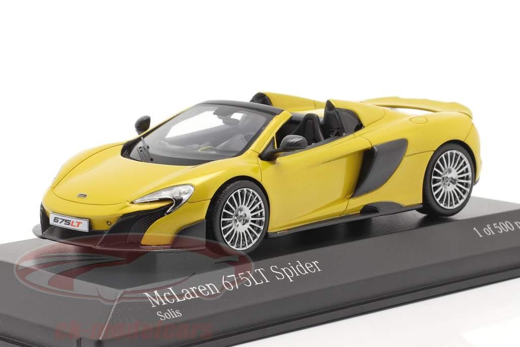 McLaren 675LT Spider Año de construcción 2016 solis amarillo 1:43 Minichamps
