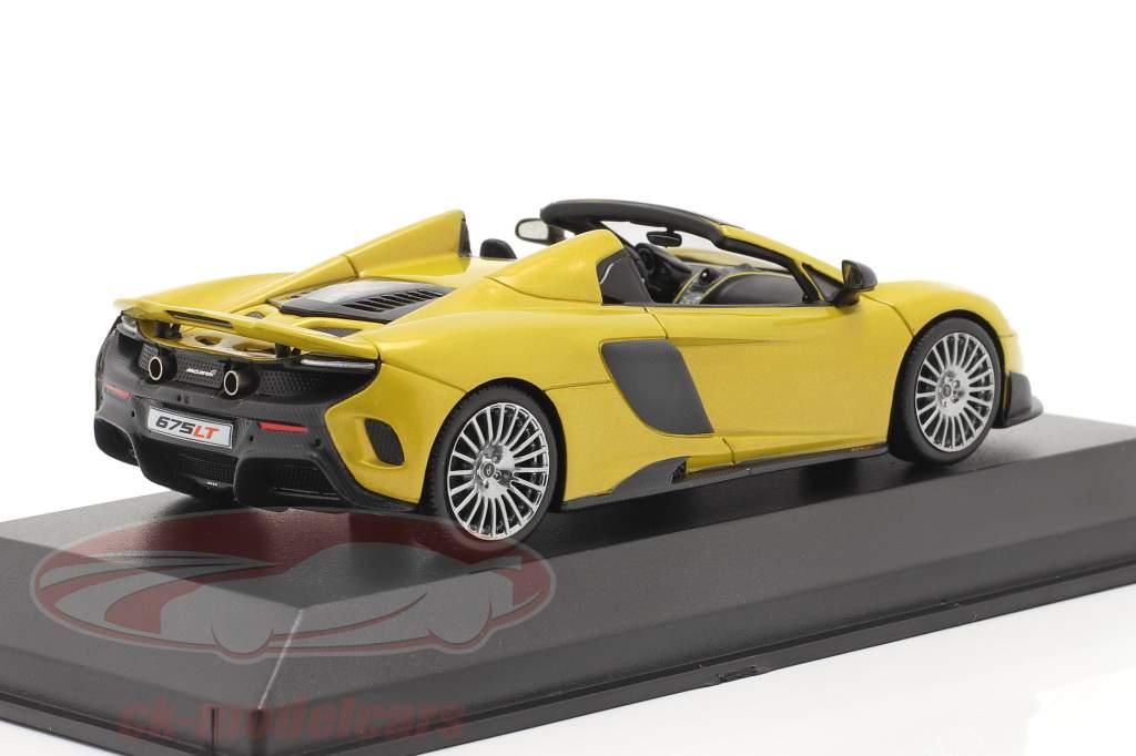 McLaren 675LT Spider Bouwjaar 2016 solis geel 1:43 Minichamps