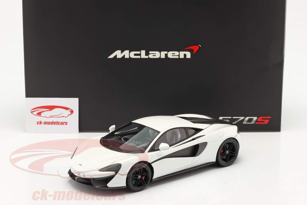 McLaren 570S Ano de construção 2015 silica Branco 1:18 TrueScale