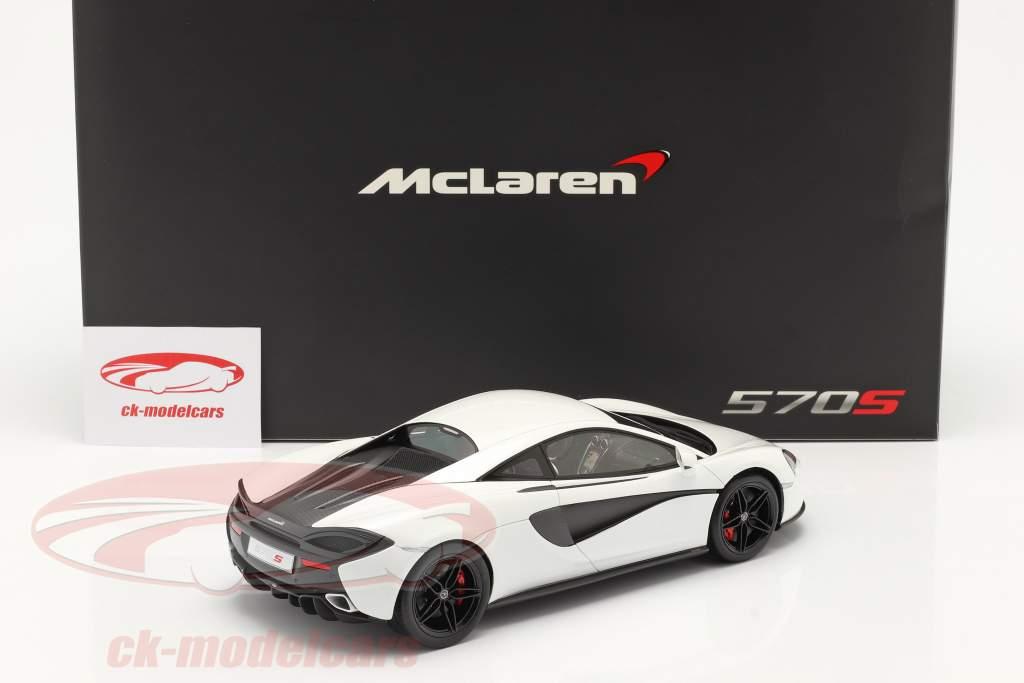 McLaren 570S Anno di costruzione 2015 silica bianca 1:18 TrueScale