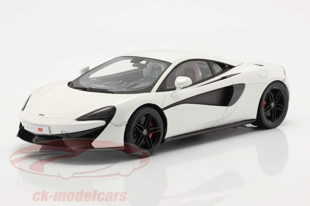 McLaren 570S Año de construcción 2015 silica blanco 1:18 TrueScale