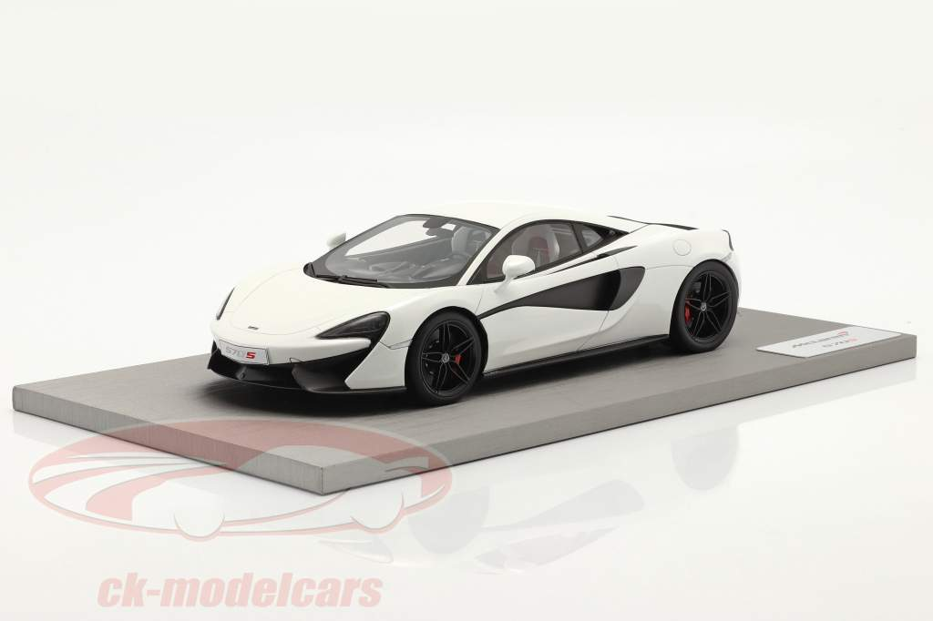 McLaren 570S Bouwjaar 2015 silica Wit 1:18 TrueScale