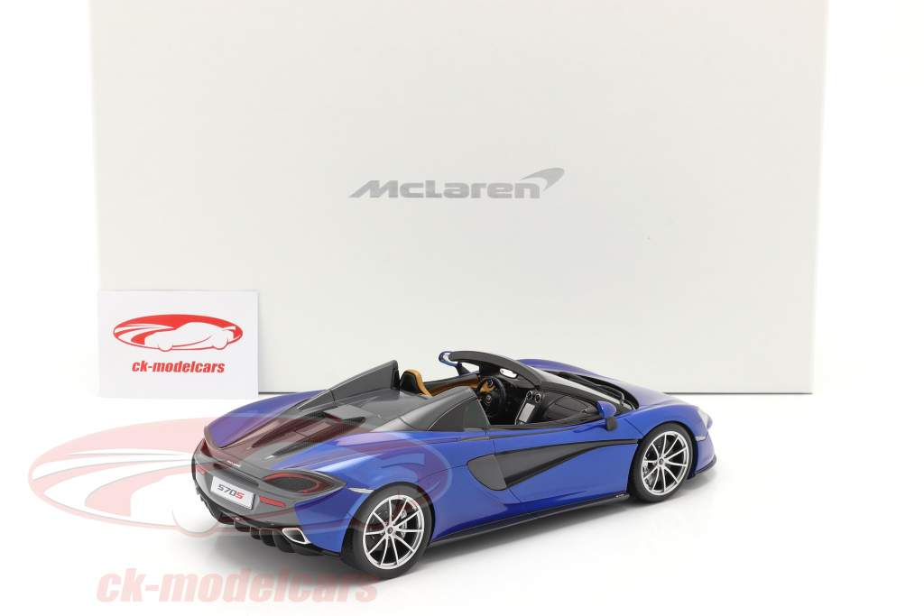 McLaren 570S Año de construcción 2017 vega azul 1:18 Spark