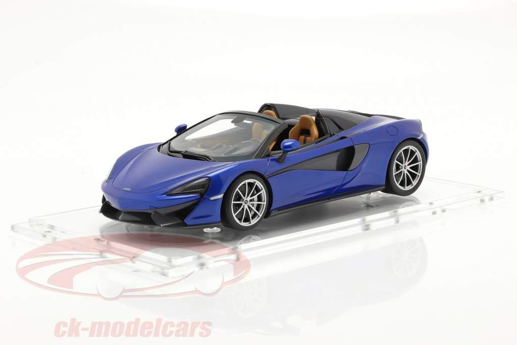 McLaren 570S Année de construction 2017 vega bleu 1:18 Spark