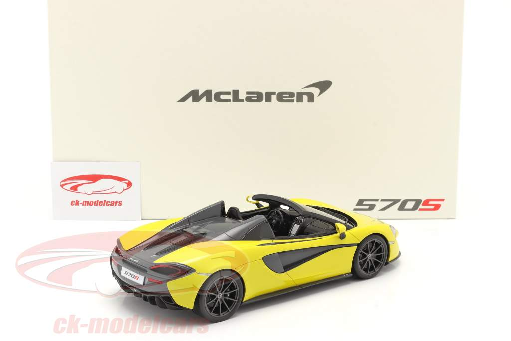 McLaren 570S Spider Ano de construção 2017 sicilian amarelo 1:18 Spark