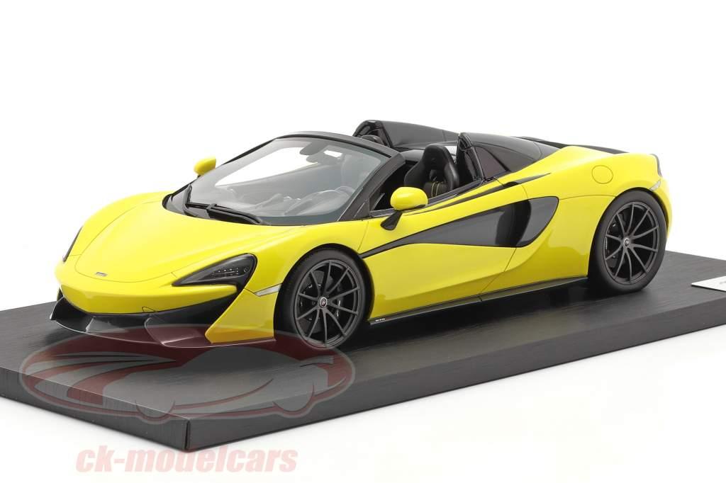 McLaren 570S Spider Année de construction 2017 sicilian jaune 1:18 Spark