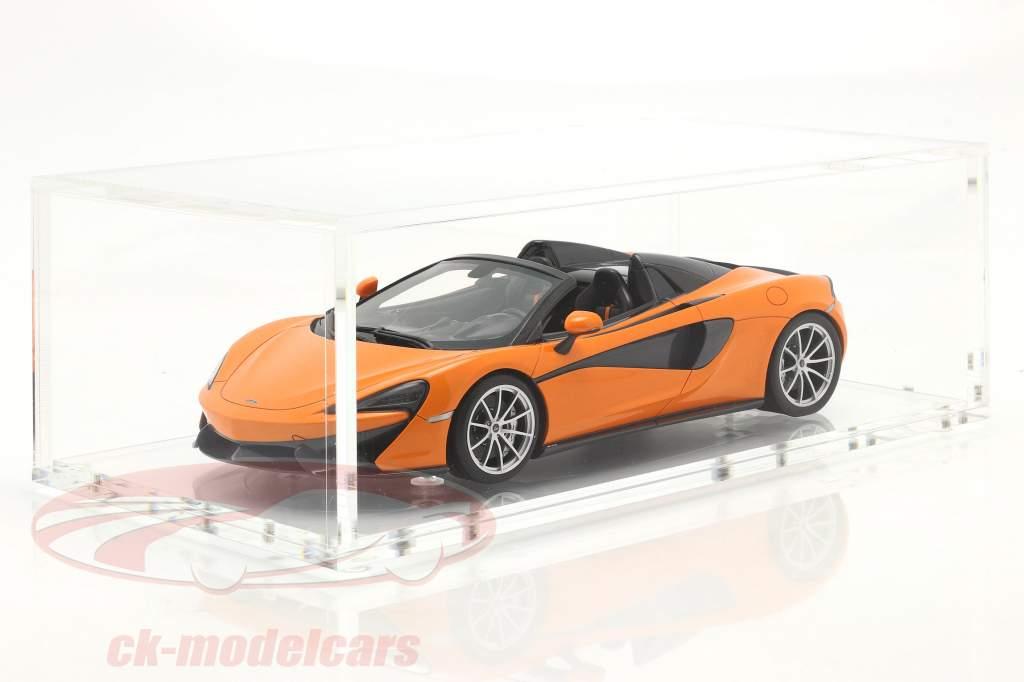 McLaren 570S Spider Año de construcción 2017 ventura naranja Con Escaparate 1:18 Spark