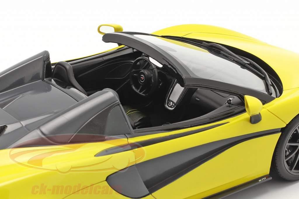 McLaren 570S Spider Anno di costruzione 2017 sicilian giallo 1:18 Spark