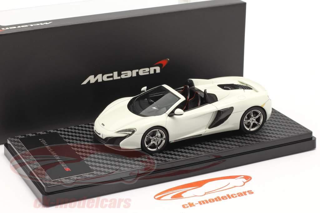 McLaren 650S Spider Anno di costruzione 2014 bianca 1:43 TrueScale