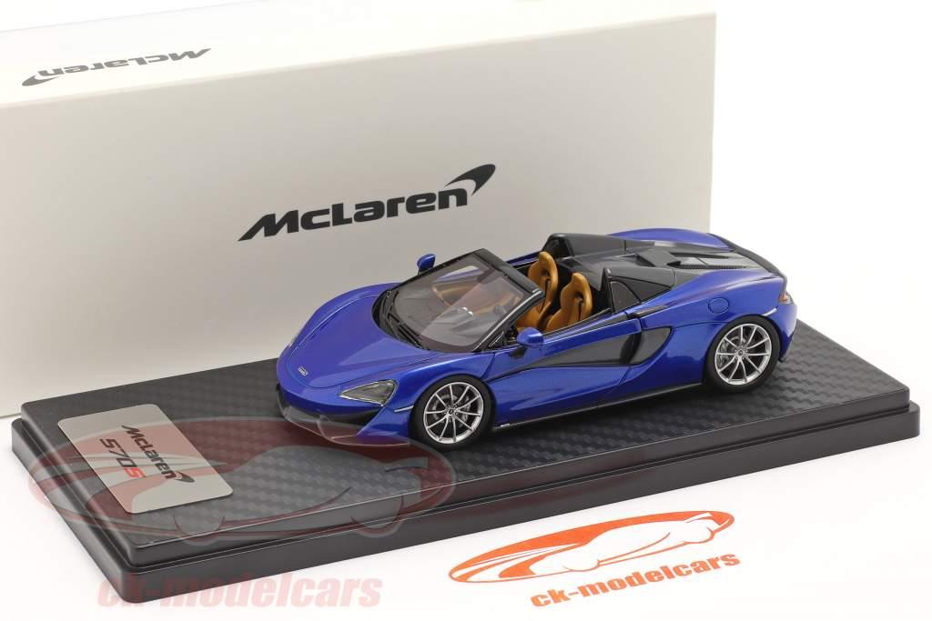 McLaren 570S Spider Ano de construção 2017 vega azul 1:43 TrueScale