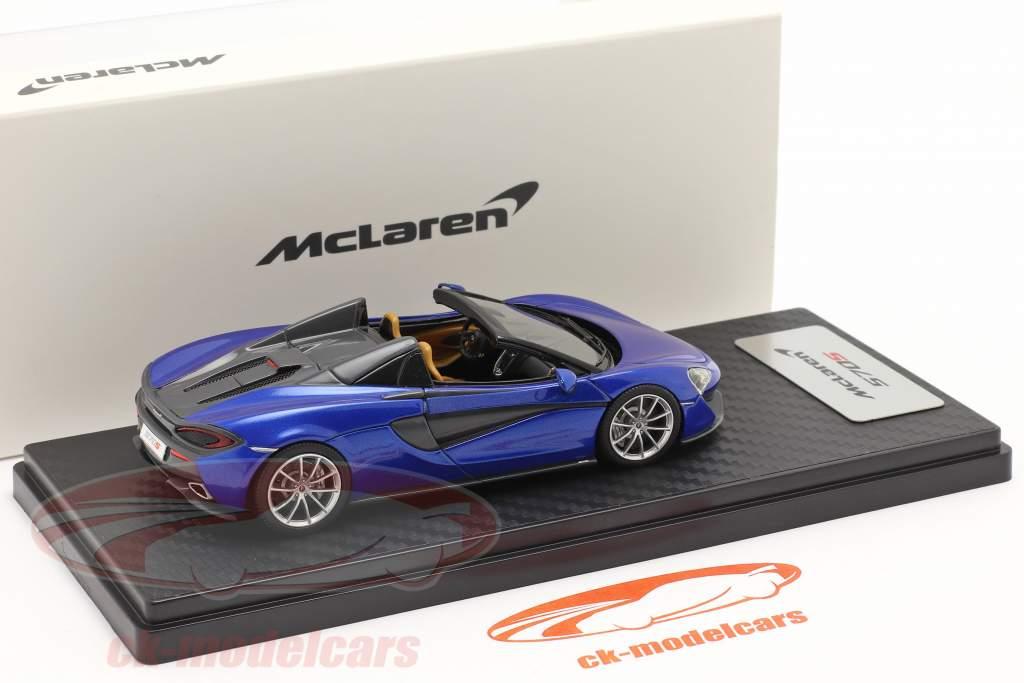 McLaren 570S Spider Bouwjaar 2017 vega blauw 1:43 TrueScale