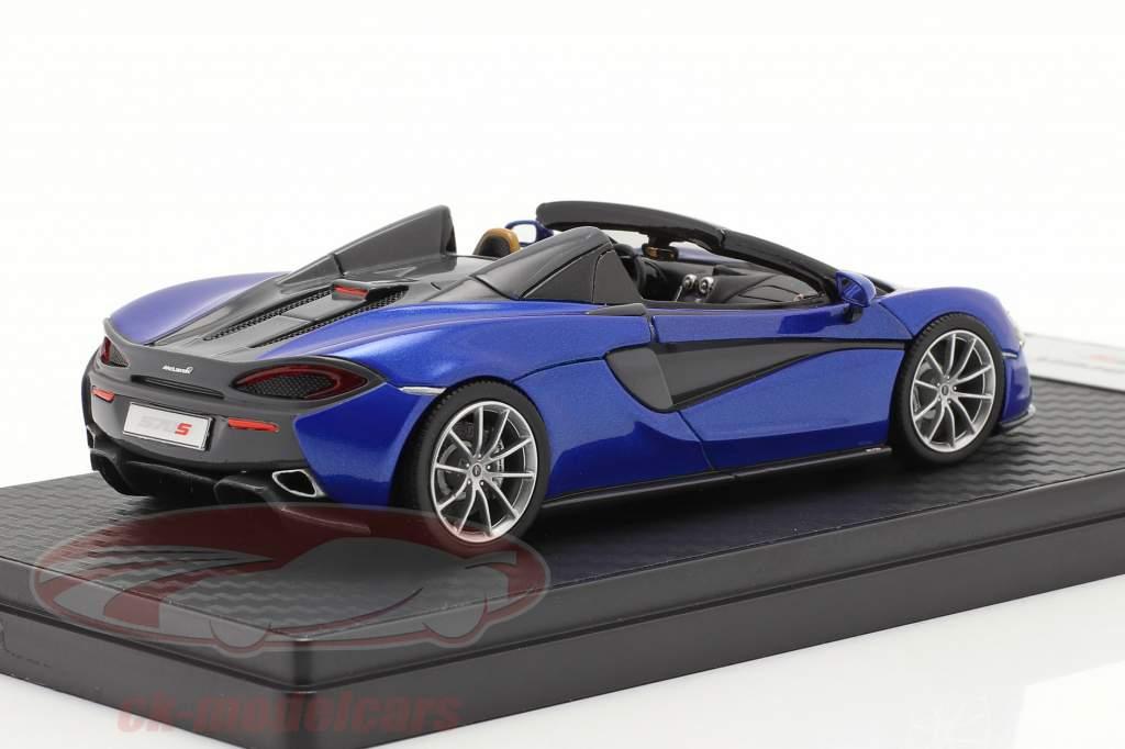 McLaren 570S Spider Byggeår 2017 vega blå 1:43 TrueScale