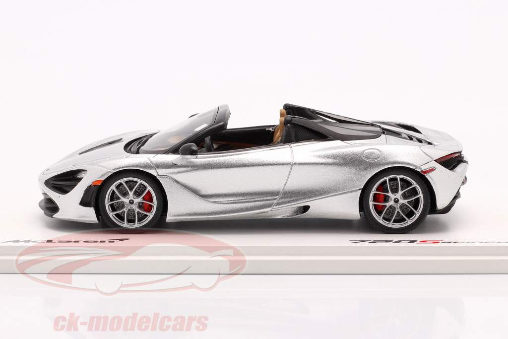 McLaren 720S Spider Ano de construção 2019 supernova prata 1:43 Spark