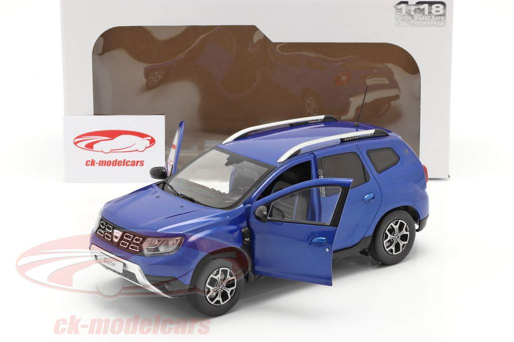 Dacia Duster MK II Baujahr 2018 cosmos blau metallic 1:18 Solido