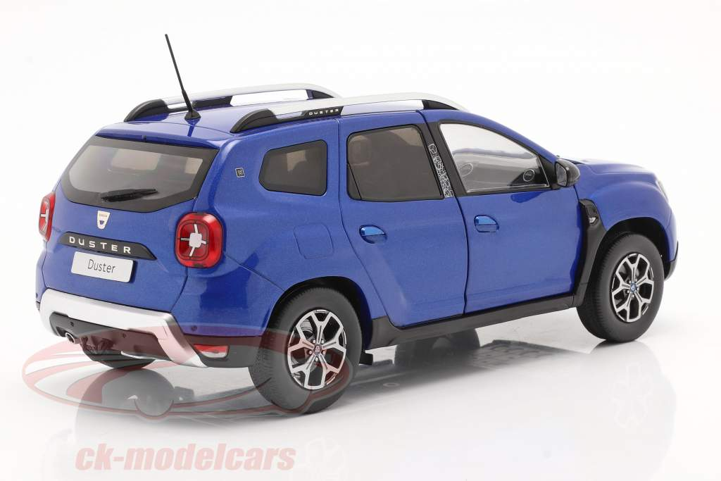 Dacia Duster MK II Byggeår 2018 cosmos blå metallisk 1:18 Solido