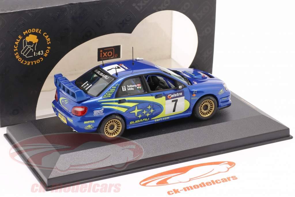 Subaru Impreza WRC #7 vencedora Austrália corrida 2003 Solberg, Mills 1:43 Ixo