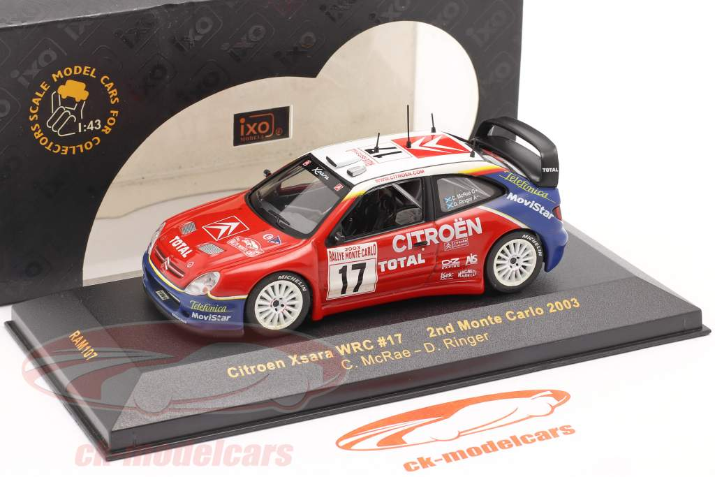 Citroen Xsara WRC #17 se rallier Monte Carlo 2003 McRae, Ringer 1:43 Ixo